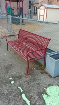 Playground bench, Concord Elementary